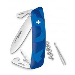 Нож перочинный SWIZA С03, ливор, синий